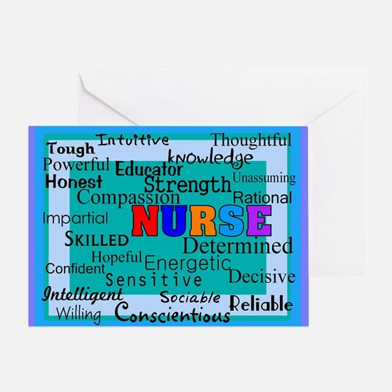 Nurse Blanket blue.PNG Greeting Card