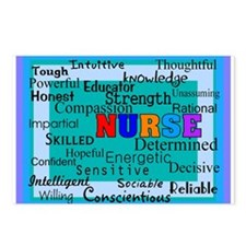 Nurse Blanket blue.PNG Postcards (Package of 8)