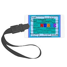 Nurse Blanket blue.PNG Luggage Tag