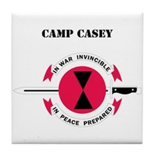 Camp Casey with Text Tile Coaster