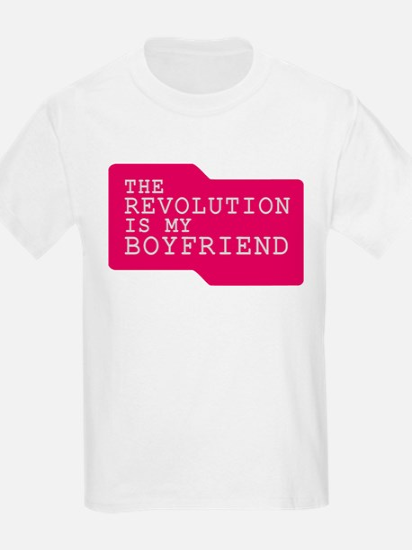 The Revolution is my Boyfrien Kids T-Shirt