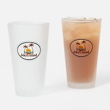 Jekyll Island GA - Oval Design. Drinking Glass