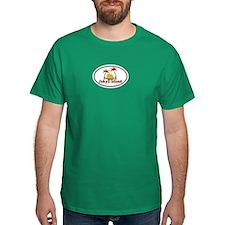 Jekyll Island GA - Oval Design. T-Shirt