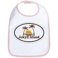 Jekyll Island GA - Oval Design. Bib