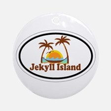Jekyll Island GA - Oval Design. Ornament (Round)
