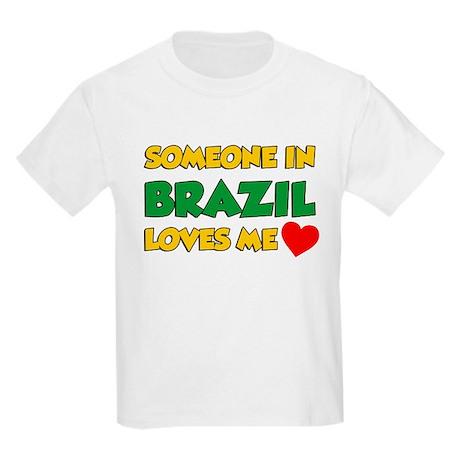 Someone In Brazil Loves Me Kids Light T-Shirt