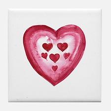 Heart of Hearts  Tile Coaster