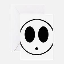 Shy Mask Greeting Card