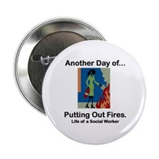 """Life of a Social Worker 2.25"""" Button (10 pack)"""