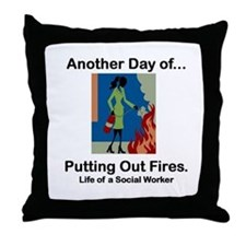 Life of a Social Worker Throw Pillow