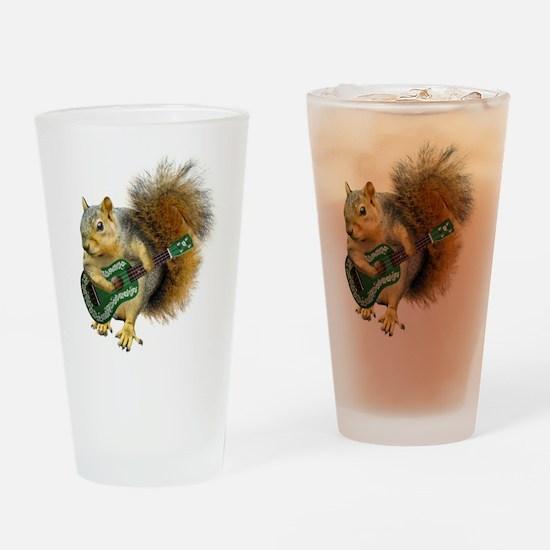 Squirrel Ukulele Drinking Glass
