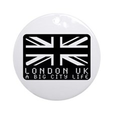 Hype british flag Ornament (Round)