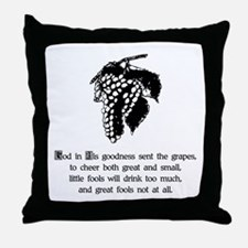 Wine & Fools Throw Pillow