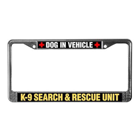 K-9 Search & Rescue License Plate Frame