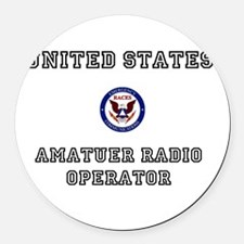 RACES HAM RADIO Round Car Magnet