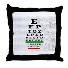 optomitrist blanket.PNG Throw Pillow