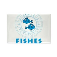 zodiac fishes Rectangle Magnet