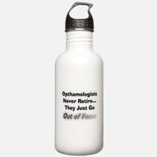 opthamologists never retire.PNG Water Bottle