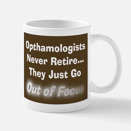 opthamologist never retire blanket brown.PNG Mug