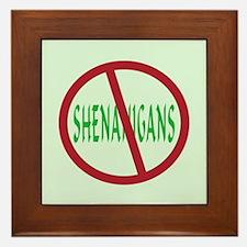 No Shenanigans Symbol Framed Tile
