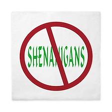 No Shenanigans Symbol Queen Duvet