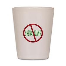 No Shenanigans Symbol Shot Glass