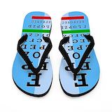 Eye chart Flip Flops