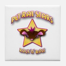 Pet Rat Stars Tile Coaster