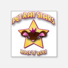 """Pet Rat Stars Square Sticker 3"""" x 3"""""""