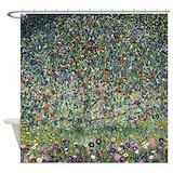 Klimt apple tree Shower Curtains