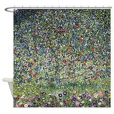 Gustav Klimt Apple Tree Shower Curtain