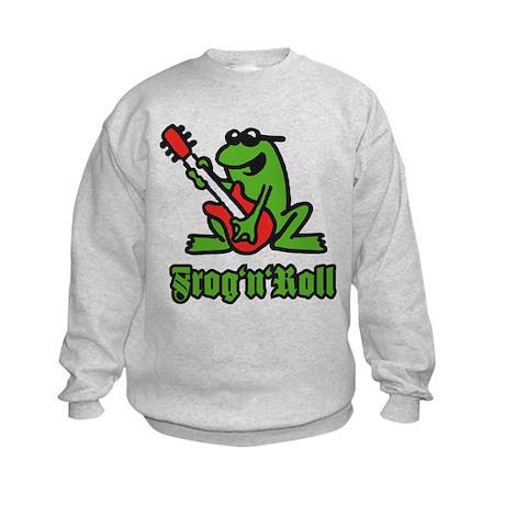 frog n roll A 3c.png Kids Sweatshirt