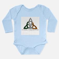 imtroubledwhite.png Long Sleeve Infant Bodysuit