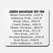 Green Mountain Top Ten Mousepad