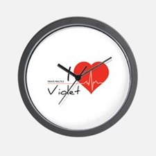 I love Violet Wall Clock