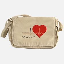 I love Violet Messenger Bag