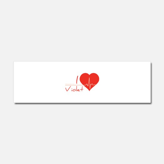 I love Violet Car Magnet 10 x 3