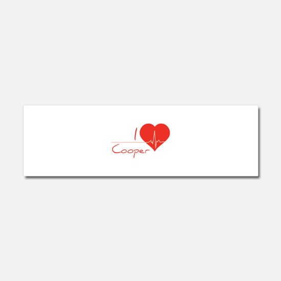 I love Cooper Car Magnet 10 x 3