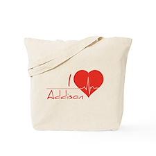 I love Addison Tote Bag