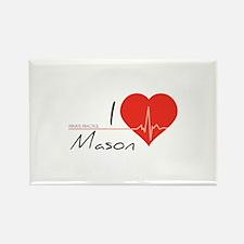 I love Mason Rectangle Magnet