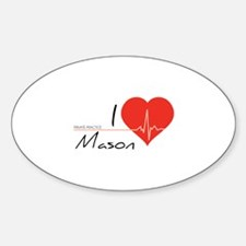 I love Mason Sticker (Oval)