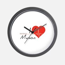 I love Mason Wall Clock