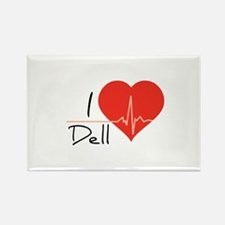 I love Dell Rectangle Magnet