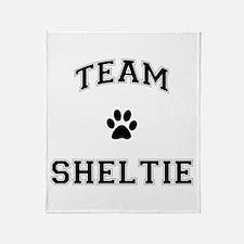 Team Sheltie Throw Blanket