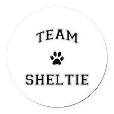 Team Sheltie Round Car Magnet