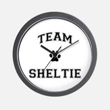 Team Sheltie Wall Clock