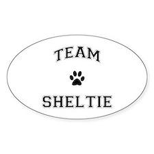 Team Sheltie Sticker (Oval)