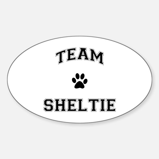 Team Sheltie Sticker (Oval)