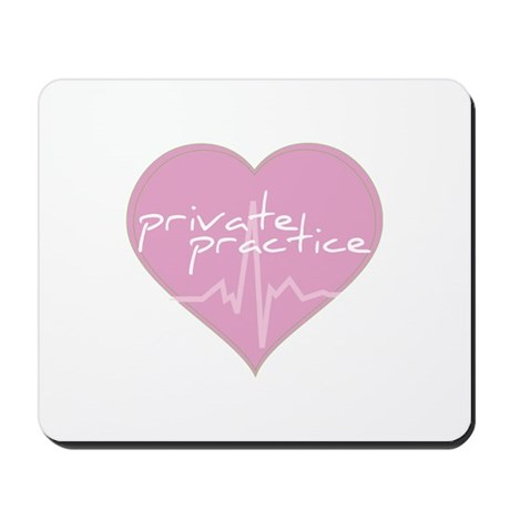 Private practice heart Mousepad
