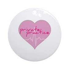 Private practice heart Ornament (Round)